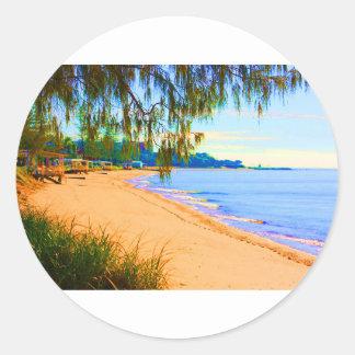Scarborough Seascape Round Sticker