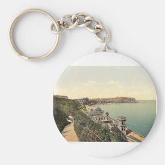 Scarborough, South Bay, Yorkshire, England rare Ph Basic Round Button Key Ring