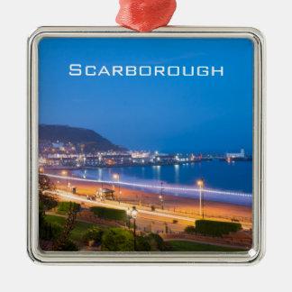 Scarborough South Sands Silver-Colored Square Decoration