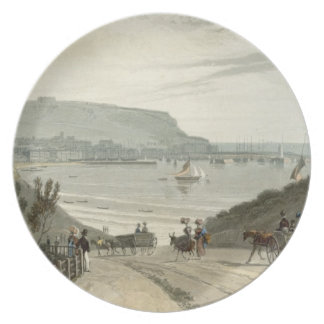 Scarborough, Yorkshire, from Volume VI of 'A Voyag Plate