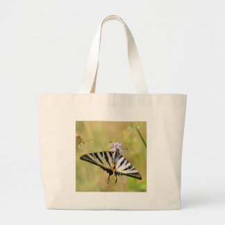 Scarce Swallowtail butterfly on flower Jumbo Tote Bag