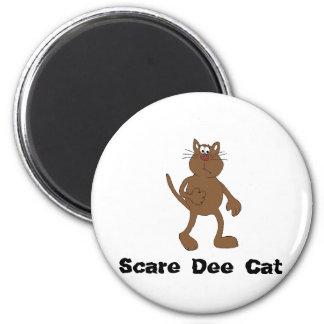 Scare Cat 6 Cm Round Magnet