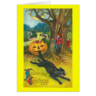Scare-Dy Cat Halloween Greeting Greeting Card