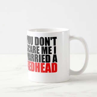 scare me i married a redhead basic white mug