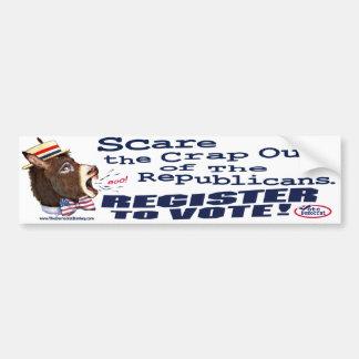 Scare Republicans, Register To Vote Bumper Sticker