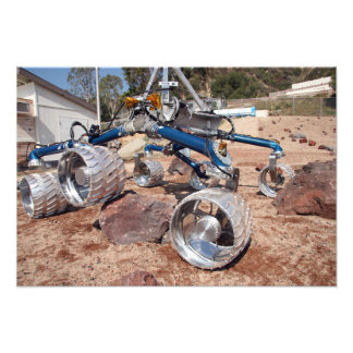 Scarecrow, a mobility-testing model photo print