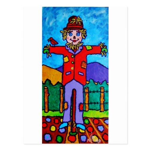 Scarecrow A Post Card