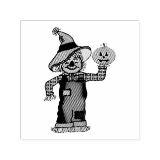 Scarecrow and Jack'O'Lantern Ink Stamp