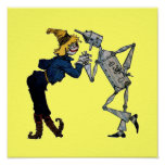 Scarecrow and Tin Man Canvas Print