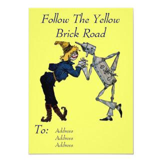 Scarecrow and Tin Man Invitation