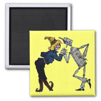 Scarecrow and Tin Man Magnet