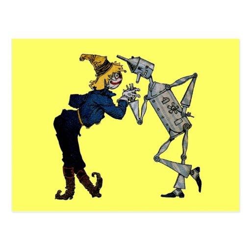 Scarecrow and Tin Man Postcards