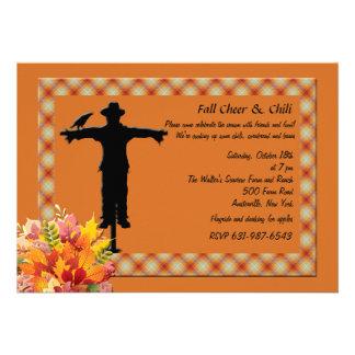 Scarecrow Argyle Invitation