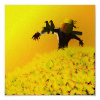 SCARECROW AT DUSK POSTER