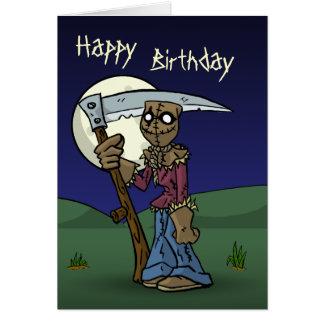 Scarecrow Birthday Card