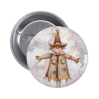 SCARECROW by SHARON SHARPE Pinback Buttons