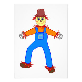 Scarecrow cartoon custom announcements