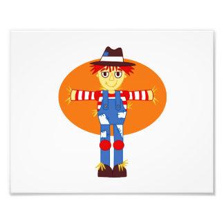 scarecrow cartoon orange behind photographic print