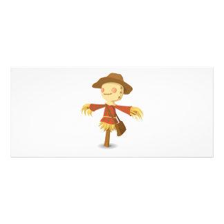 Scarecrow cartoon personalized rack card