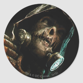 Scarecrow Character Art Classic Round Sticker