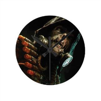 Scarecrow Character Art Round Clock