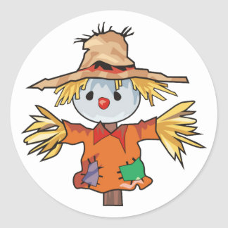 Scarecrow Classic Round Sticker