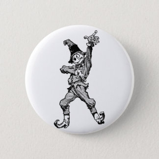 Scarecrow Dancing Disco Style 6 Cm Round Badge
