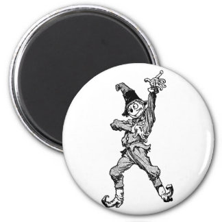 Scarecrow Dancing Disco Style 6 Cm Round Magnet