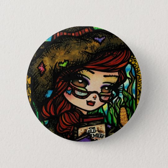 Scarecrow Fairytale Girl Fairy Fantasy 6 Cm Round Badge