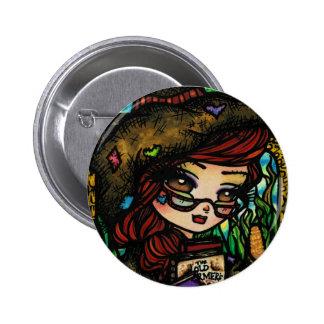Scarecrow Fairytale Girl Fairy Fantasy Pinback Buttons