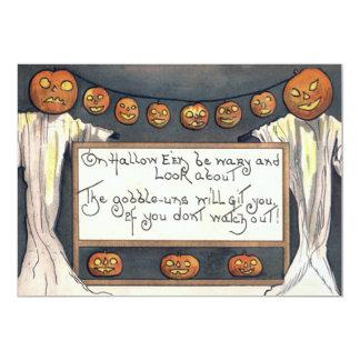 Scarecrow Ghost Spirit Jack O Lantern Pumpkin 13 Cm X 18 Cm Invitation Card