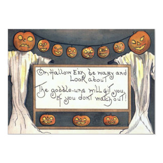 Scarecrow Ghost Spirit Jack O Lantern Pumpkin Card