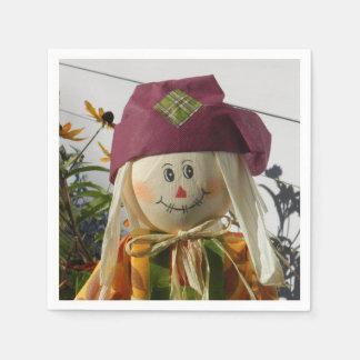 Scarecrow Girl Paper Napkins