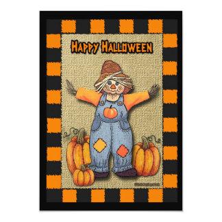 Scarecrow Halloween 13 Cm X 18 Cm Invitation Card