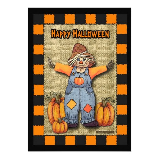 Scarecrow Halloween Custom Announcement
