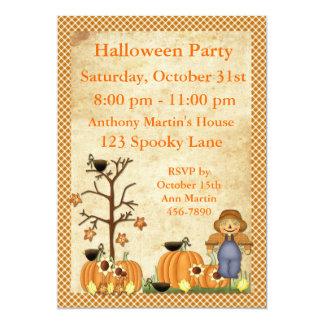 Scarecrow Halloween Party Invitation