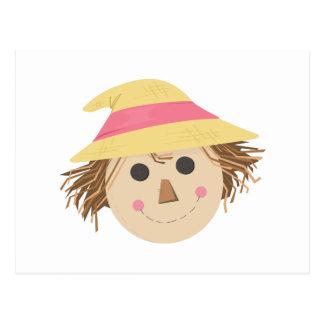 Scarecrow Head Post Card