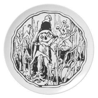 Scarecrow in the Corn Plate