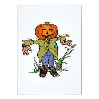"Scarecrow 5"" X 7"" Invitation Card"