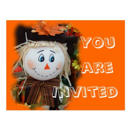 Scarecrow Invitation-customize any occasion Post Cards