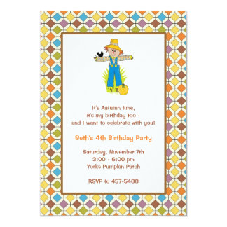 Scarecrow Invitations - Retro