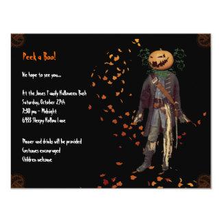"Scarecrow Jack Halloween Party Invitation 4.25"" X 5.5"" Invitation Card"