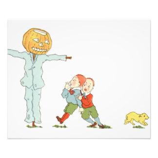 Scarecrow Jack O' Lantern Pumpkin Children Dog Art Photo