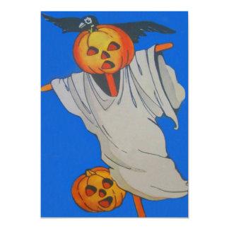 Scarecrow Jack O' Lantern Pumpkin Ghost Card