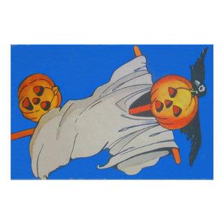 Scarecrow Jack O' Lantern Pumpkin Ghost Art Photo
