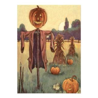 Scarecrow Jack O Lantern Pumpkin Custom Invite