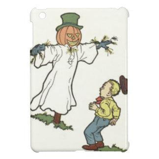 Scarecrow Jack O' Lantern Scared Boy iPad Mini Covers