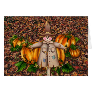 SCARECROW LEAVES by SHARON SHARPE Cards