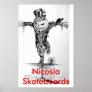 scarecrow, NicosiaSkateboards Poster