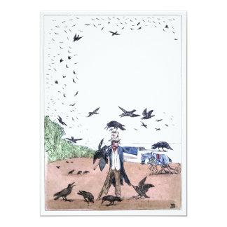 Scarecrow on a Farm 13 Cm X 18 Cm Invitation Card